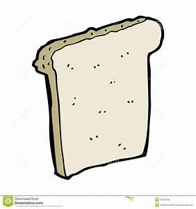 Cartoon Slice Of Bread Stock Photo - Image: 37019740