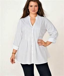 femmes rondes oubliez le noir pour une chemise blanche With chemise a carreaux femme grande taille