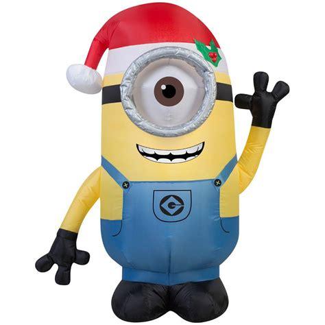 inflatable minions  christmas holidays santas site