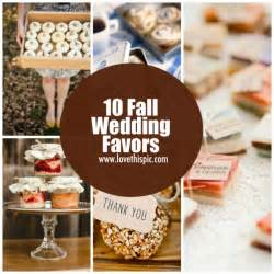 fall wedding favors 10 fall wedding favors