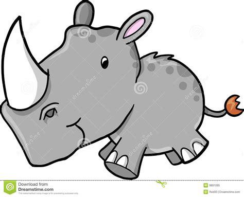 rhino vector illustration royalty  stock photo image