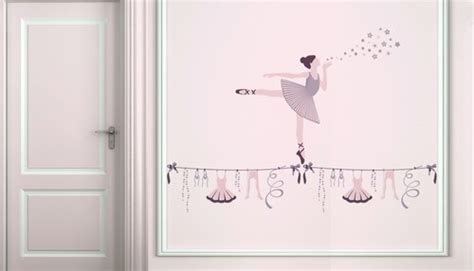 stickers chambre bébé décoration chambre danseuse