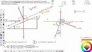 Physics Example With Using A Free Body Diagram