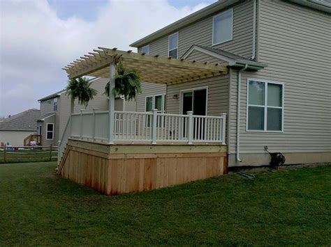 wood skirting for mobile homes wood deck with pergola all decked out 1947