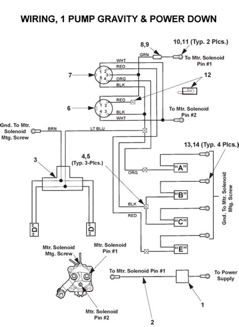 maxon columnlift bmr  sn xx xx wiring  pump
