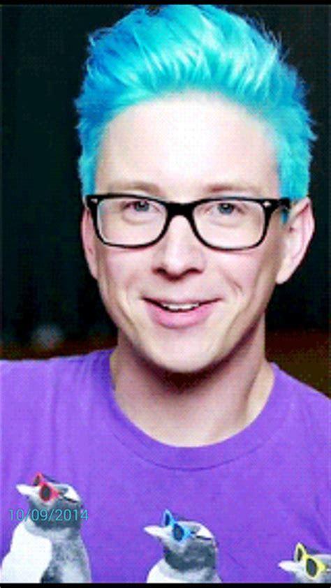 Hair accessory: blue hair, tyler oakley, hair dye   Wheretoget