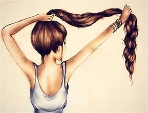 draw, girl, hair, long hair - image #2281438 by ...