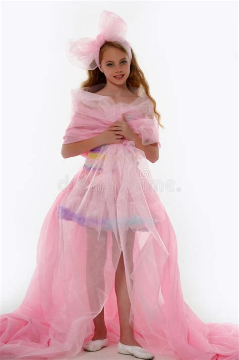 beautiful  girl  princess dress stock photo