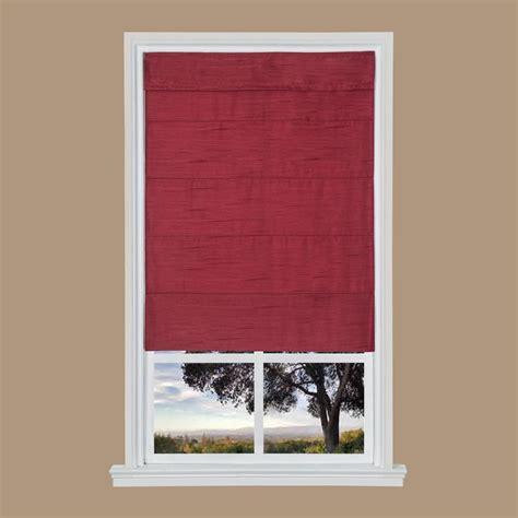 Merlot Faux Silk Cordless Fabric Roman Shade  39 In W X