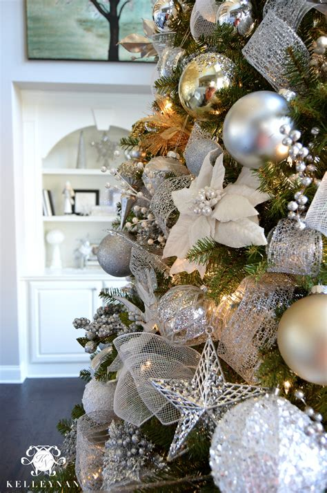 white tree with gold decorations 2015 home tour kelley nan