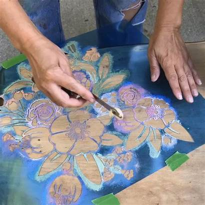 Iron Orchid Fabric Hack Anthropologie Stencils Moulds