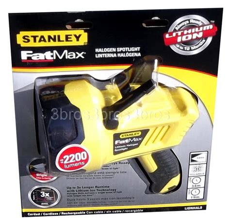 new stanley max lithium ion halogen rechargeable