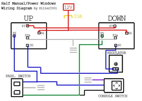 Jeep Power Window Wiring Diagram by Half Manual Power Window Wiring Diagram Jeep