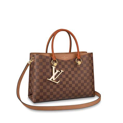 lv riverside damier ebene canvas handbags louis vuitton