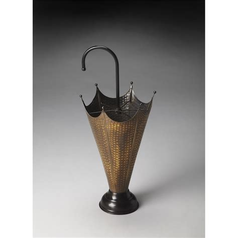 Poppins Antique Brass Umbrella Stand, Hors D'oeuvres