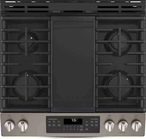 jgseeles ge    gas range convection steam clean slate