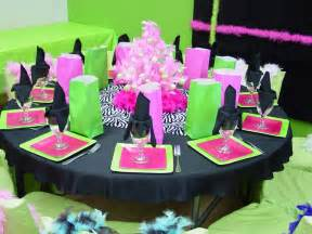 Pink and Green Party Decoration Ideas