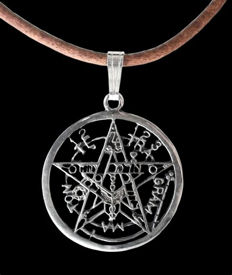 sterling silver esoteric pentagram pendant small