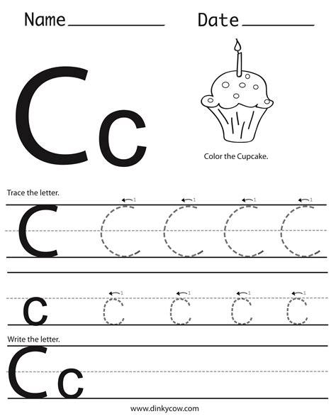 6 Best Images Of Free Printable Preschool Worksheets Letter C  Printable Letter C Worksheets