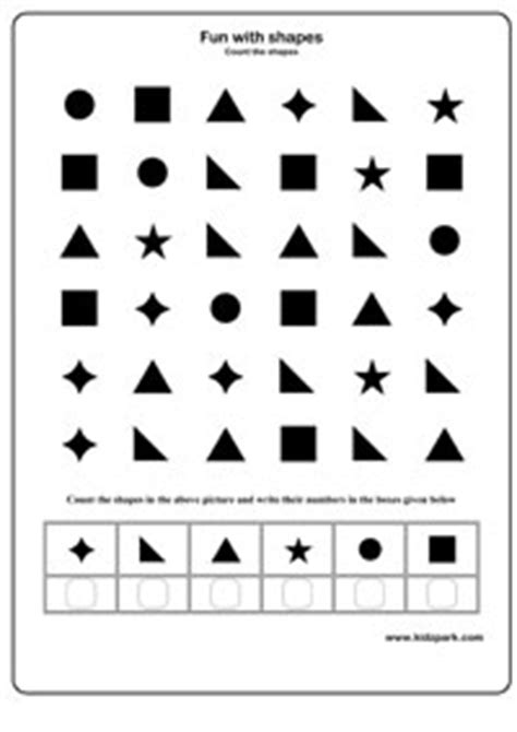 counting shapes  write  numbers worksheetactivity
