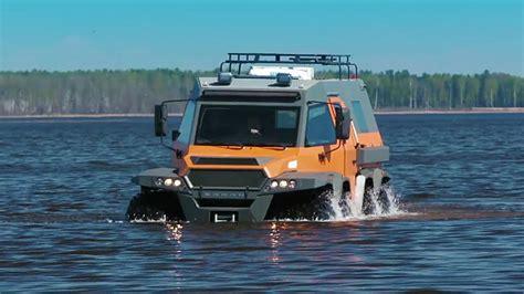 The 4.8-ton Avtoros Shaman On Water
