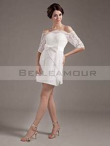 Robe Mariage Dentelle : robe blanche dentelle mariage civil ~ Mglfilm.com Idées de Décoration