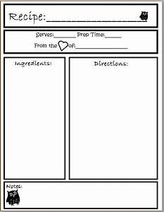 template preschool cookbook printable yahoo image search With free recipe template for cookbook