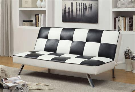 furniture  america checkered blackwhite leatherette