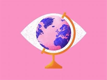 Dribbble Globe Watching Stu Kelly 收藏自 Animation