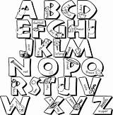 Coloring Alphabet Letters Pages Templates Colorthealphabet Alphabets Printable Doodle Cc Template Lettering sketch template