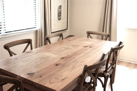 dining table reclaimed wood parsons kitchen table