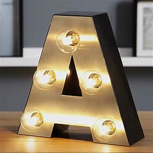 george home letter a lamp gold lighting asda direct With gold letter lights