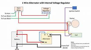 Wiring For Alternator With Internal Regulator
