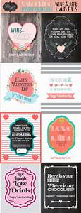 valentines day wine and beer gift labels sohosonnet With free printable beer labels