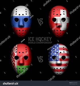 Goalie Masks With Flags Of The Ice Hockey World ...