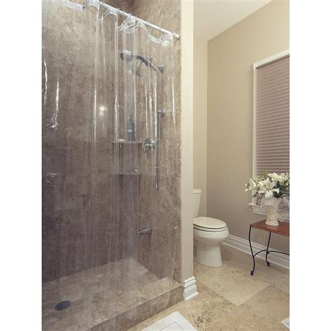 clear shower curtain berrnour home venice collection heavy duty 10 72 in