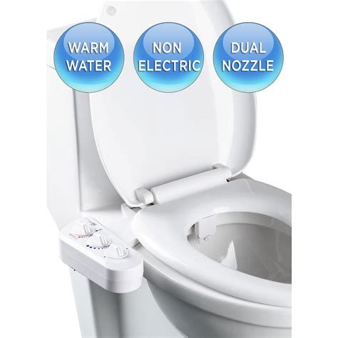 home bidet biobidet economy class duo bidet attachment in white bb