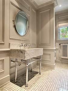 la moulure decorative dans 42 photos avec des idees With carrelage adhesif salle de bain avec corniche lumineuse led