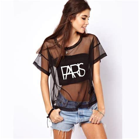 mesh blouse 2013 stylish mesh see through letter
