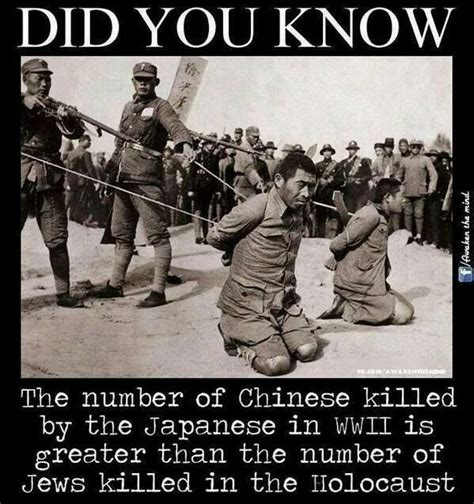 Japanese Killed more Chinese then Nazi Killed Jews | On the Other Hand... | Pinterest | Chinese