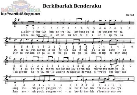 lirik lagu jembatan merah beserta notnya kumpulan not angka lagu wajib nasional lengkap materiku