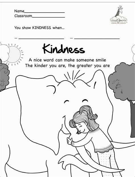 kindness coloring pages  print coloring home