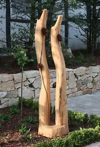 Skulpturen Aus Holz : skulptur aus eiche mit rostrosen holz skulpturen unikate ~ Frokenaadalensverden.com Haus und Dekorationen