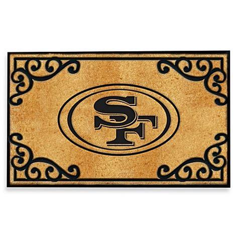 49ers doormat nfl san francisco 49ers door mat www bedbathandbeyond