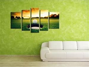 Decoration Murale Tableau : d coration murale tableau golf en toile plexiglass et aluminium ~ Teatrodelosmanantiales.com Idées de Décoration