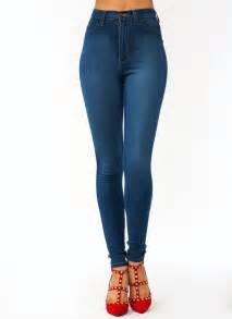 perfectly basic high waisted jeans dkblue blue gojane com