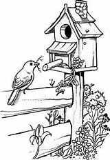 Birdhouse Pyrography Birdhouses Stove Bordado Miraculum Northwoods Wiosna Kolorowanki Brandmalerei Muster Malbuch Vögel Ausmalen Vogelhaus Crayon Jigging Kleuren Obraz Patroned sketch template