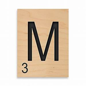 buy game tile letter quotmquot wall art from bed bath beyond With letter tile games