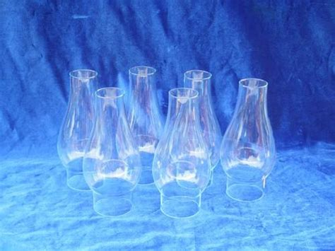 hurricane l replacement glass chimney set of 6 glass l chimneys vintage replacement