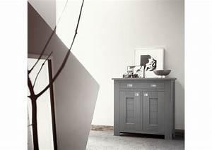 Acheter votre meuble d39entree contemporain en chene gris 2 for Meuble d entree contemporain